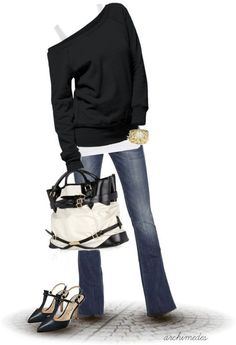cute early fall outfit or all winter outfit minus the shoes