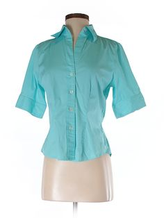 The Limited Women Short Sleeve Button-Down Shirt Size S