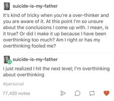 That awkward moment when your overthinking gets meta: | 23 Jokes You'll Only Find Funny If You Overthink Everything