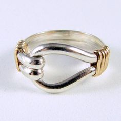 Items similar to Sterling Silver Gold Filled Two Tone Band Ring Custom Sized on Etsy Wire Jewelry Rings, Soldering Jewelry, Resin Jewelry, Jewelry Art, Jewellery, Diy Friendship Bracelets Patterns, Silver Work, Wire Wrapped Rings, Bijoux Diy