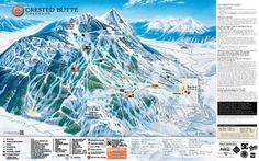 Created Butte Colorado.  Mountain Peak. 12,162 feet. 2775 Veritcal Drop. 16 lifts, 20% Advanced, 57% Immediate, 23% Beginner.
