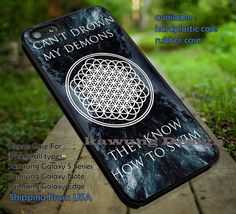 Can't Drown My Demons Lyrics case/cover for iPhone 4/4s/5/5c/6/6 /6s/6s  Samsung Galaxy S4/S5/S6/Edge/Edge  NOTE 3/4/5 #music #bmth ii