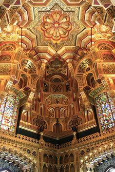 Interior of Cardiff Castle, Wales by fillbee, via Flickr
