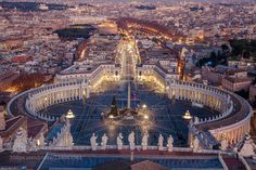 Piazza San Pietro - Pinned by Mak Khalaf St. Peter's Square. View from the Basillica's dome City and Architecture ItaliaItalyRomaRomeSt. Peter's SquareVaticanPiaxxa San Pietro by rchris