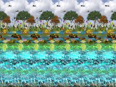 TIL about stereograms or magic eye images. If you relax your eyes enough the image will become This is my favorite one so far. See if you can figure out what lies at the bottom of the river! 3d Hidden Pictures, Hidden 3d Images, Magic Eye Pictures, 3d Pictures, Pictures Online, 3d Optical Illusions, Magic Illusions, 3d Stereograms, Eye Tricks