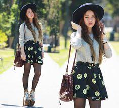 Chloe T - Unif Hellbound Platform, Romwe Skirt, Romwe Studded Top, Choies Studded Bag - SMILE SMILE