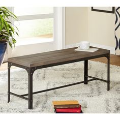 Simple Living Scholar Vintage Industrial Dining Bench  I think this has the elements of the table?