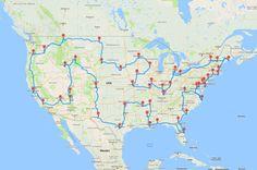 Vom Grand Canyon bis zur Freiheitsstatue: Mit einem Computer-Algorithmus errechnete der Amerikaner Randy Olson die effektivste Route, um 50 Highlights der USA zu sehen. TRAVELBOOK zeigt die Roadtrip-Karte zum Nachfahren.