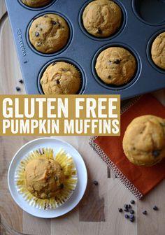1package of King Arthur's Gluten Free Muffin Mix  1 cup pumpkin puree 3 eggs, large-1/2 cup milk pumpkin pie spice-nuts  Bake 375 18-22 min