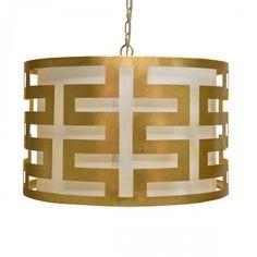 Image of Hicks Greek Key Gold Leaf Lamp