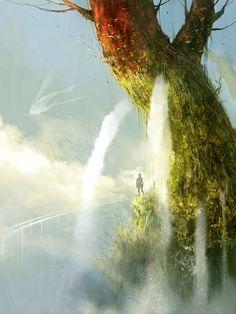 crying tree -by Kyoung Hwan Kim (Tahra on deviantart)