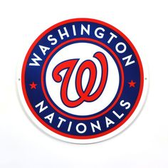 "Washington Nationals Circle 12"" Steel Sign"