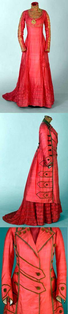 Ensemble, 1909-1910. Silk, cotton, wool, and metallic thread. From the Nasjonalmuseet for Kunst, Arkitektur og Design, Norway.