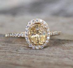 1.21 Cts. Golden Champagne Peach Sapphire Diamond by Studio1040, $1460.00