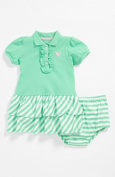 Little Me Polo Dress & Bloomers (Baby Girls) available at #Nordstrom