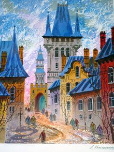 Anatole Krasnyansky - Street of Old Prague