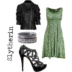 Slytherin by h-girl-46 on Polyvore featuring slytherin