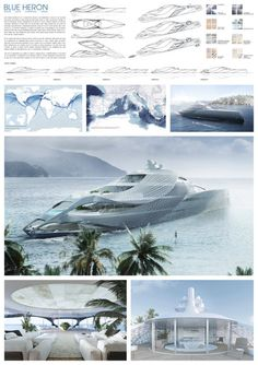 Yacht Design, Super Yachts, Conceptual Design, Motor Yacht, Blue Heron, Sea And Ocean, Luxury Yachts, Design Process, Boat