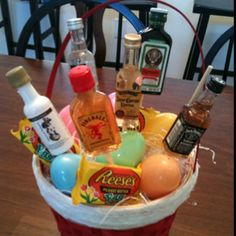 Diy easter basket for him boyfriend husband fiance holiday easter basket i made my boyfriend negle Gallery