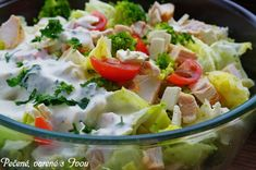 GYROS ŠALÁT - Báječné recepty Vegetable Salad, Salad Dressing, Tofu, Potato Salad, Sandwiches, Food And Drink, Health Fitness, Cooking Recipes, Vegetables