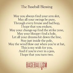 The Baseball Blessing #Baseballism