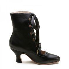 Tango Black boots- Victorian Steampunk era boots