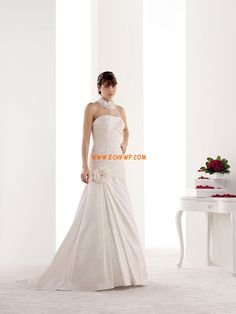Taft 3/4 Arm Natürlich Brautkleider 2014