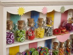 Miniature Food - Dollhouse Candy Cabinet #3 by PetitPlat - Stephanie Kilgast, via Flickr