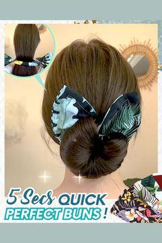 Hair Bun Maker, Bun Hairstyles, Elegant Hairstyles, Everyday Hairstyles, Barrettes, Hair Tools, Elegant Bun, Hair Designs, Hair Hacks
