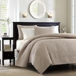 TRP 3 Piece All Season Traditional Floral Embroidered Reversible Quilted Bedspread Full - Queen Set, Casual Oversized Superior Warmth Super Soft Bedding Set, Charm Solid Color Blue Quilt Coverlet Set Grey Quilt, Blue Quilts, Pillow Shams, Pillows, Ruffle Bedding, Comforter, Cozy Bed, Texture Design, Interiors