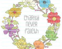 RSCA001 LDS Relief Society Clipart Clip Art Faith by LDSPrintable ...