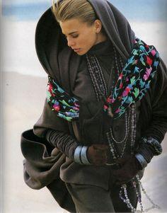 "US ELLE November 1990 ""Cocoa"" Model: Unknown Photographer: Gilles Bensimon Stylist: Loren Laney"