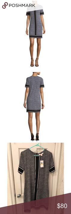 NWT MICHAEL KORS Short-sleeve Stingray Dress •Fashion-forward dress finished with a contrasting design •Round neck •Short-sleeve •Concealed back zip with hook-and-eye closure •Pull over style •Machine wash Michael Kors Dresses