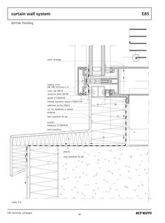 Architecture Drawings, Facade Architecture, School Architecture, Curtain Wall Detail, Window Detail, Wall Section Detail, Facade Engineering, Architect Drawing, Construction Drawings