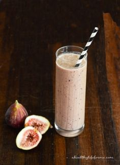 Chocolate Fig Protein Smoothie Recipe   ahealthylifeforme.com
