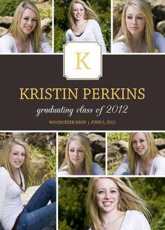 """""""Monogram Collage"""" Graduation Announcement"""