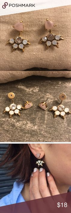 Stella & Dot Ear Jackets Beautiful and Sparkly ear jackets from Stella & Dot. EUC. Stella & Dot Jewelry Earrings