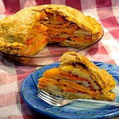 Savory vegetable pasty pie. A recipe from Finland!