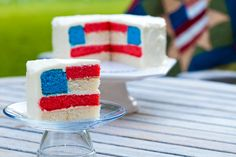 Impress guests with this easier-than-it-looks layered flag cake.