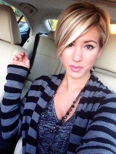 Fall hair #pixie #shorthair #balayage #jamisonshaw