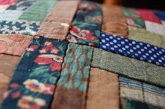 scrap material quilt