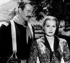 """John Wayne y Maureen O'Hara en """"Río Grande"""" (Rio Grande), 1950"""