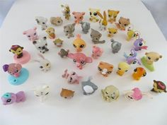 Littlest Pet Shop Lot 39 Pets Cat Dog Rabbits Butterfly Elephant Duck and More | eBay $39.95