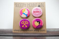 These buttons are adorable! https://www.etsy.com/listing/184375098/the-grand-budapest-hotel-button-set-wes