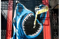 Landshark drinking a beer. | March 9, 2012 | #terry-richardson #photography #street-photography | Source: www.complex.com