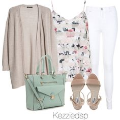 Floral cami and mint tote by kezziedsp on Polyvore featuring polyvore, fashion, style, MANGO, Dorothy Perkins, Miss Selfridge, Accessorize and clothing