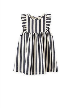 Stripe Frill Dress | Baby Girls 0-2 - Country Road