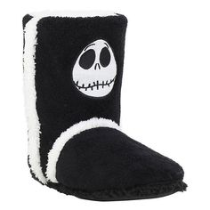 The Nightmare Before Christmas Jack Slipper Boots Hot Topic ($20) ❤ liked on Polyvore featuring shoes, slippers and boots
