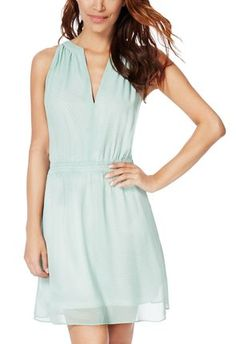Minty and fresh! This is the kind of dress you can easily pair with a blazer and flat or heeled sandals in the spring! I love the details and the that minty color! Perfect just perfect for the spring! #JustFabapparel