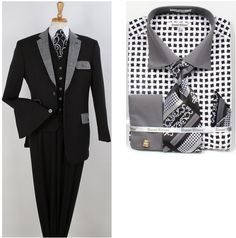 These 4 piece suits come with 2 pair of pants. #mensfashion #mensstyle #menssuits